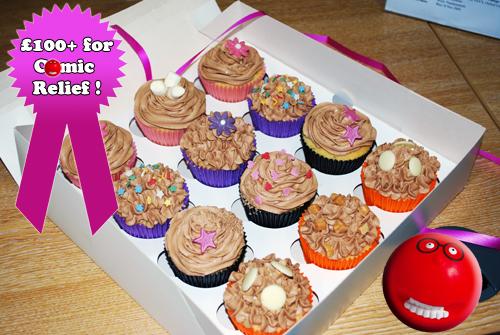 Comic Relief Cupcakes