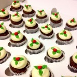 Christmas Pudding Mini Cupcakes