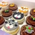 Christmas Cat Cupcakes